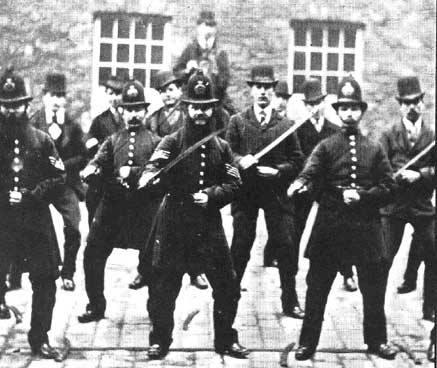 Cops with cutlasses